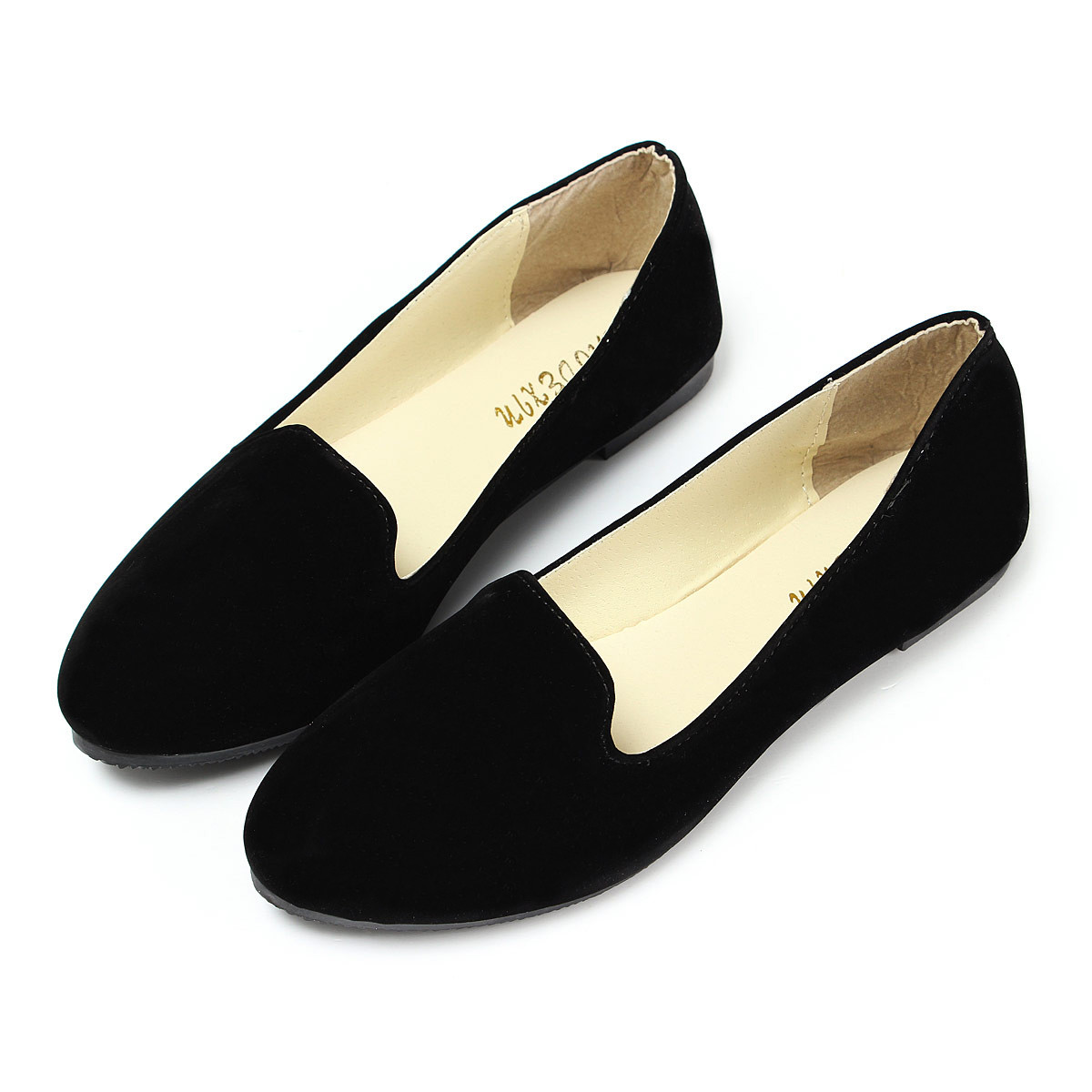 Flat Black Leather Shoes Sale